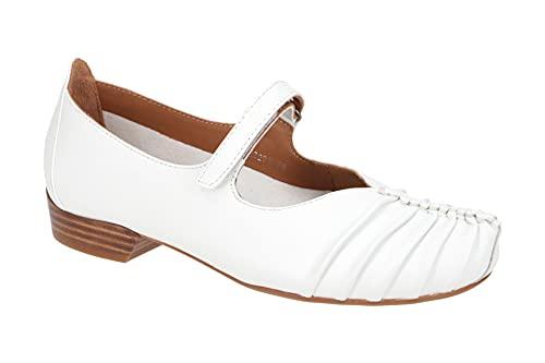 Everybody Damenschuhe - Riemchen Pumps GALEGA 30508H2296 002-white Weiß, EU 36