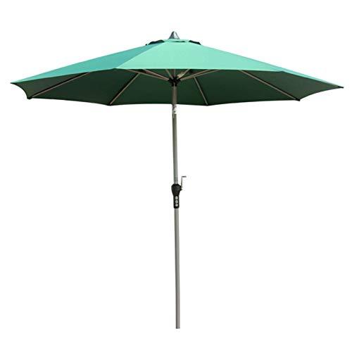 Sombrillas para Patio Sombrilla Verde para Patio con 8 Varillas de Acero, Piscina al Aire Libre en El Patio de la Playa Protección UV de 9 Pies Tarea Pesada Cámping Refugio Solar, Resistente al Clima