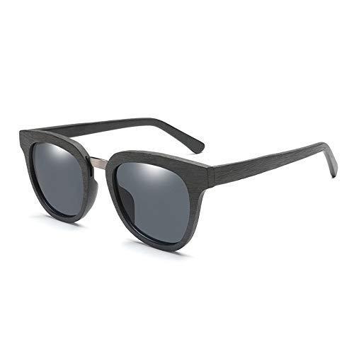 YEESEU Gafas de Sol de los Hombres de la Placa de Moda Gafas de Sol polarizadas Trande clásico de Madera Cuadrado Retro de la Vendimia de Las Gafas de Sol Unisex Gafas de Moda (Color: Azul) Ciclismo,