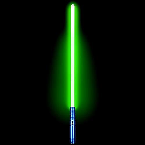 Duel Light Saber - Metal Aluminum Hilt Force FX Lightsaber with 6 Sound Fonts LED Rechargeable Light Sabers for Adults and Kids (Blue)