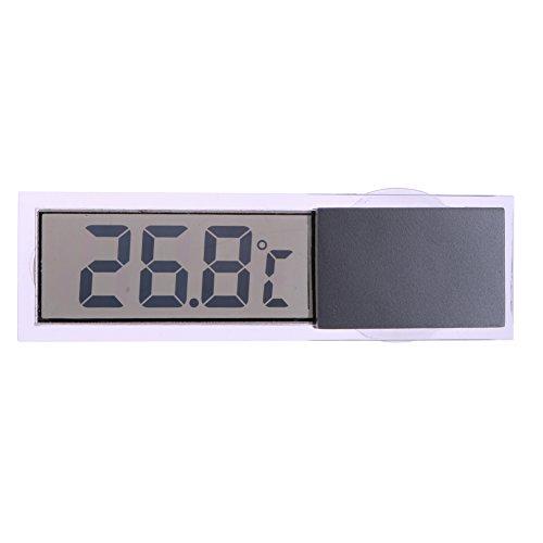 DOMYBEST Indicateur de Température Numérique LCD Transparent Thermomètre Intérieur Extérieur pour Voiture