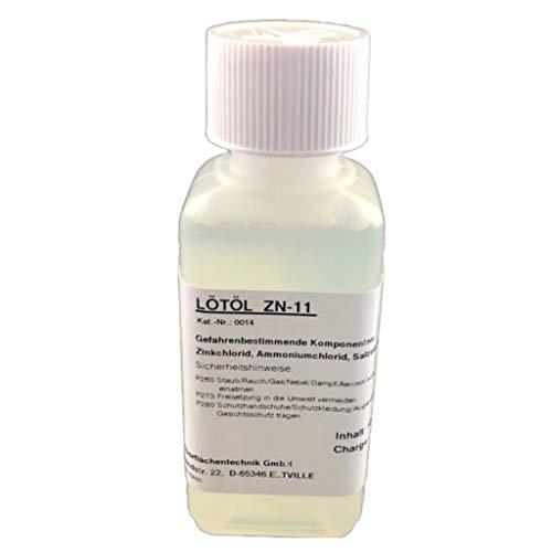 Flussmittel/Lötöl/Lötwasser ZN-11 100 ml, wässrig, gebrauchsfertig, für Zink, Titanzink und verzinkte Bleche (F-SW11 / 3.2.2.A)