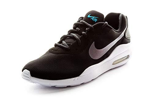 Nike Air MAX Oketo, Running Shoe Hombre, Negro/Mtlc Cool Grey/Laser Blue/Blanco, 40 EU