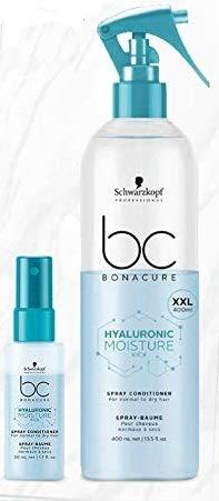 schwarzkopf_pack - Spray-Baume Conditioner Hydratant pour Cheveux Normaux à Secs - Moisture Kick Hairtherapy BC - Format XXL 400ml + Format Voyage 50ml