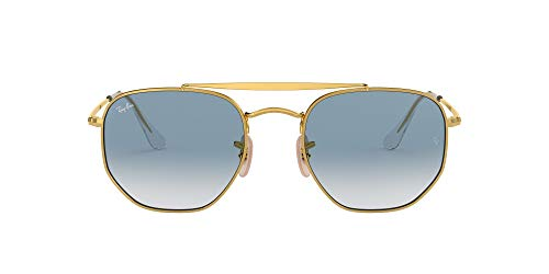 Ray-Ban 0rb3648 001/3f 51 Occhiali da Sole, Oro (Gold/Clear Gradient Blue), Unisex-Adulto