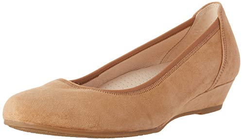 Gabor Shoes Damen Comfort Sport Geschlossene Ballerinas, Braun (Sattel 35), 43 EU