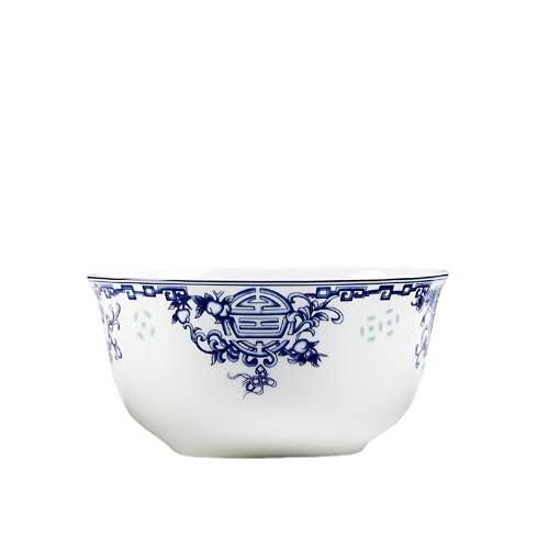 WYGOAKG 4.5 'Arte de porcelana azul pequeño tazón de arroz cerámica ramen sopa cuencos de porcelana china ensalada tazón cocina