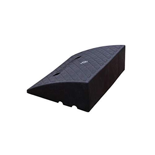 Toegankelijk Kanaal Rolstoel Ramps, Geel/zwart Plastic Hellingspad Taxi Bus Draagbare Uphill Pad Outdoor Service Ramps 49.5 * 39 * 16.5CM Zwart