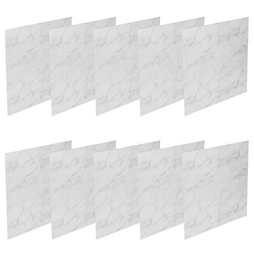 Emoshayoga Adhesivo de Pared para Azulejos Desmontables de Fibra de Polipropileno, 10 unids/Set, Adhesivo Autoadhesivo fácil de Limpiar, Adhesivo para Suelo sin decoloración para Pared de(DTS06)