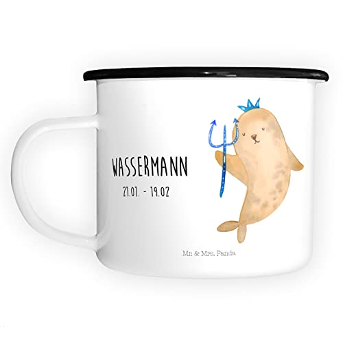 Mr. & Mrs. Panda XL Taza esmaltada, taza de metal, taza de café, taza, taza, taza de café, camping, taza de camping, impresión de taza, taza de metal, taza decorativa, esmaltada, taza para exteriores,