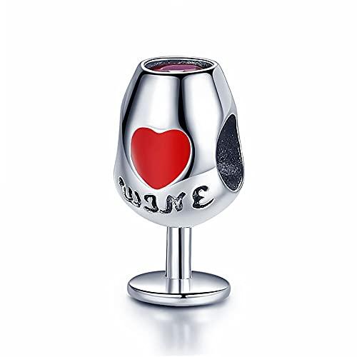 pandora 925 colgante de plata de ley diy vino espumoso real cz encanto ajuste joyería de moda original para mujer