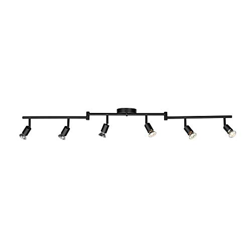 Globe Electric 59693 Payton 6 Foldable Track Lighting Painted, Matte Black