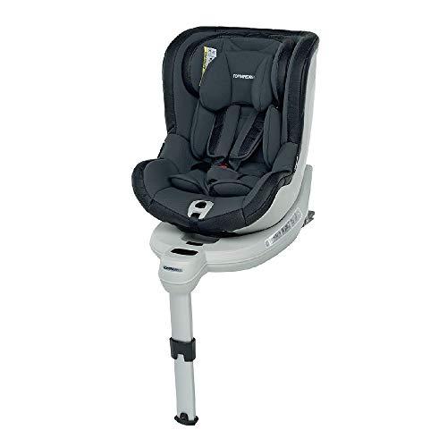Foppapedretti Isokompass Seggiolino Auto Gruppo 0+/1 (0-18 Kg) per Bambini da 0 a 4 Anni Circa, Grey