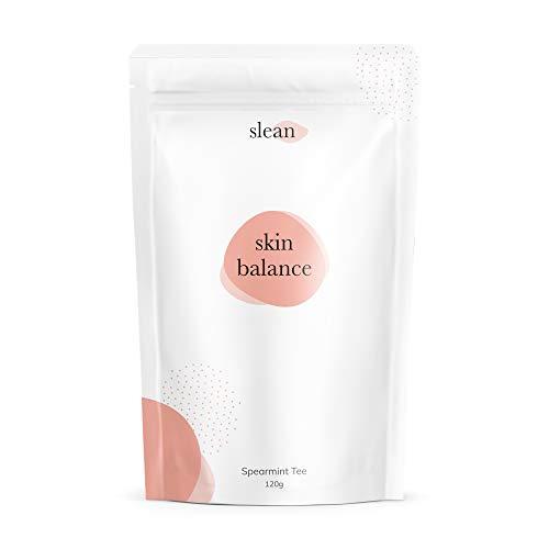 slean skin balance Spearmint Tee - unreine Haut bekämpfen mit regulierendem Nanaminze Tee für Hormonhaushalt von Frauen - 120g für 60 Tassen, vegan