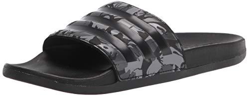 adidas Men's Adilette Comfort Slide Sandal, Grey/Black/Grey, 4