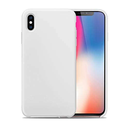 Bakicey iPhone X Hülle, iPhone XS Hülle, iPhone XS Silikon Handyhülle Schutzhülle Bumper Case Schutz Tasche vor Stoßfest/Scratch Schale Cover für iPhone X/Xs (Weiß)