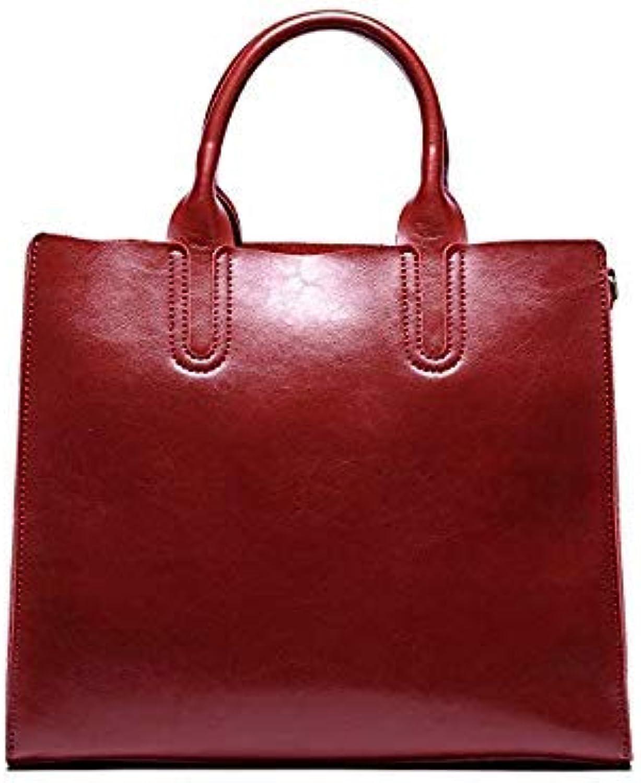 Bloomerang Kajie Genuine Leather Luxury Handbags Large Capacity Women Messenger Bags Designer Real Bags First Layer Leather Shoulder Bags color Burgundy Size