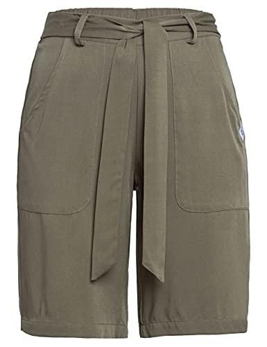 ROADSIGN Australia Damen Bermuda-Shorts aus weich fließendem Stoff, in knielänge Oliv   44