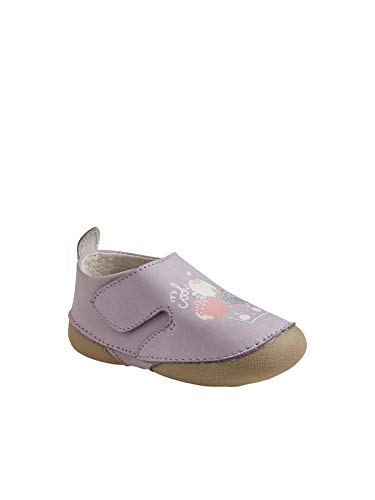Vertbaudet Babyschuhe für Mädchen aus weichem Leder, Violett - Fliederfarben - Größe: 24 EU
