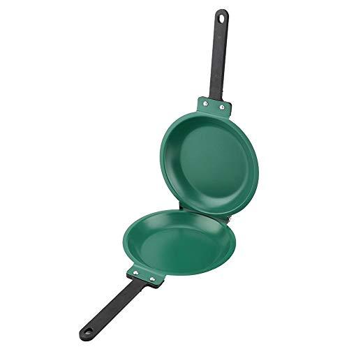Pancake Frying Pan - Non-stick Flip Frying pan Pancake Maker Double Side Ceramic Coating Flip Frying Pan Household Kitchen Cookware Green