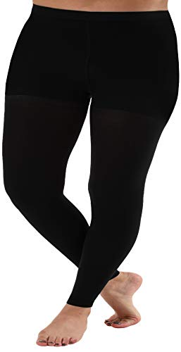 5XL Plus Sized Compression Leggings for Women 20-30mmHg - Graduated Medical Support Stockings Control Top - 1 Pair - for Edema, Varicose veins & Thigh Support - Absolute Support A717BL8 Black, Size XX