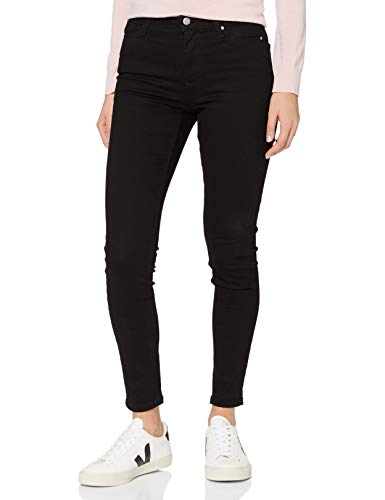 Amazon-Marke: MERAKI Damen Skinny Jeans Newstwp008, Schwarz (Clean Black), 26W / 30L, Label: 26W / 30L