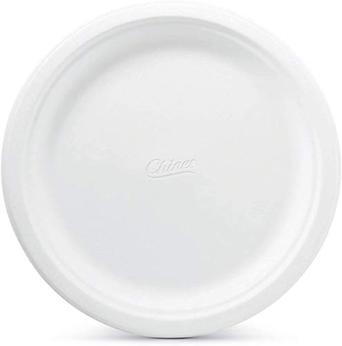Chinet 10 3/8' Diameter Big Party Pack, Heavy Weight Paper Dinner Plates, 165 Count, Classic White