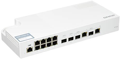 QNAP(キューナップ)10GbE L2 Webマネージドスイッチ 4つの10GbE SFP+ポート(うち、2つのRJ45コンボポート)、8つのギガビットイーサネットポート QSW-M408-2C