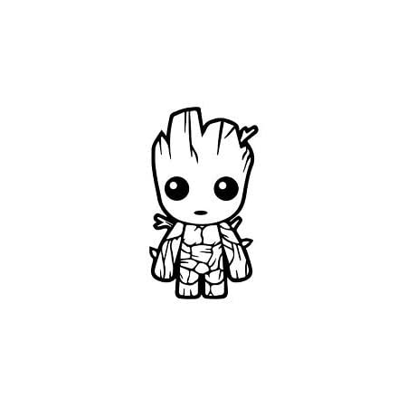 1x Funny Baby On Board Cute Groot Car Truck Laptop Toolbox PET Sticker Decal