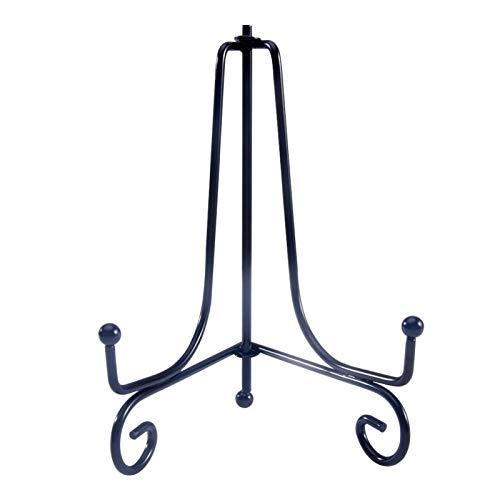 DSFSAEG Soporte decorativo de hierro de 4/6/8/10 pulgadas, placa de caballete de hierro negro, soporte de fotos, marcos decorativos, tabletas y arte