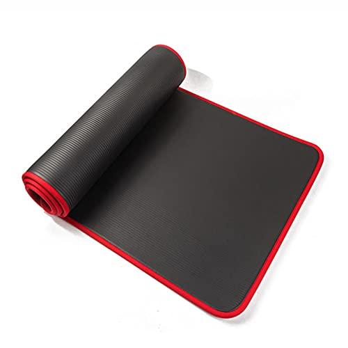 Esterilla de yoga, antideslizante Esterilla de ejercicio de 10 mm antideslizante Yoga Mat 183* 61 cm de espesor de caucho de nitrilo Estera de fitness