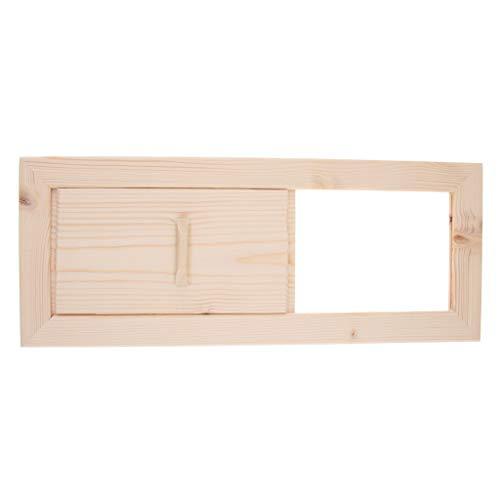 Zedern Lüftungsklappe Lüftungsschieber Abluftschieber Lüftungsgitter Sauna Zubehör, ca. 33 x 13 cm