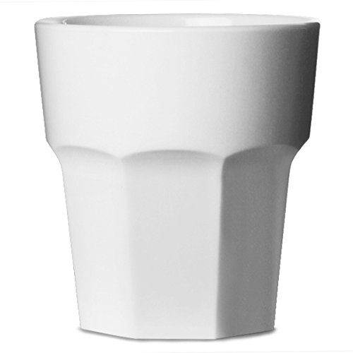 12 Verres multi-usages incassables 25,6 cl, polycarbonate blanc