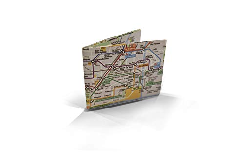 Cartera Metro Barcelona Monedero diseño Metro Barcelona Billetera Tyvek Origami