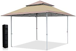 ABCCANOPY 13x13 Canopy Tent Instant Shelter Pop Up Canopy 169 sq.ft Outdoor Sun Shade, Beige