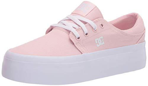 DC womens Trase Platform Skate Shoe, Light Pink, 9.5 US