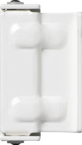 ABUS Fenster-Zusatzsicherung SW2 - Fensterschloss zur Montage ohne Anbohren des Fensterflügels - Sicherheitslevel 3 - 35359 - weiß