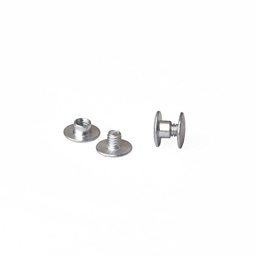 1/8 in. Aluminum Chicago Screws/Screw Posts (Qty 100 sets)