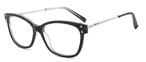 FERAVIA Gafas de moda con estilo joven dama ojo de gato lente transparente demi.gray color