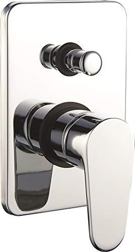 Einbau Duscharmatur 2 Wege mit Umsteller Unterputz Brause-Armatur Dusche Bade-Wanne Fertig-Montageset