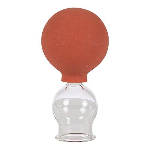 Ventosa de cristal con bola de succión para masajes profesionales, vasos en 5 tamaños diferentes (diámetro de 2 a 6 cm), vasos para ventosaterapia sin fuego, para masajes anti celulitis