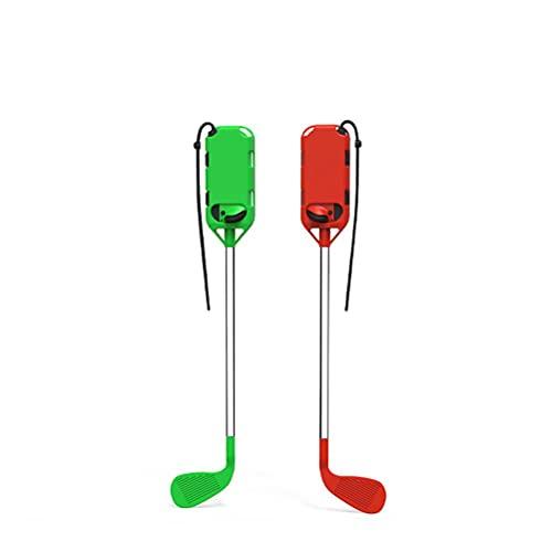 Tenwan Switch Golf Clubs Game, Golfschläger für Switch Joy-Con Controller, Golf Grip Rushing Links und Rechts Kleine Griffe Spielzubehör mit Handschlaufen