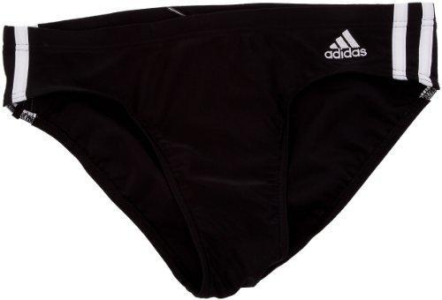Adidas 3 stripes Authtentic Trunk, Slip de bain Natation Homme Noir/Blanc 3