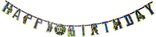 TMNT Jumbo Add-An-Age 'Happy Birthday' Letter Banner