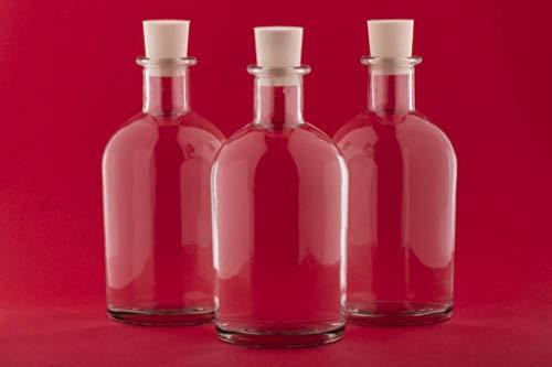 casavetro 12, 24 x 100 ml Apotheker Leere Saft Glasflaschen mit Korkstopfen Weinflasche Schnapsflasche Essig Öl Glasflaschen 0,1 Liter l (24 x 100 ml)