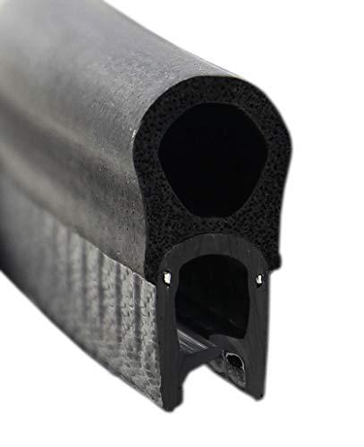 DO7 Dichtungsprofil von SMI-Kantenschutzprofi mit Dichtung oben - Klemmbereich 1-4 mm - Klemmprofil und Dichtung aus EPDM Moosgummi - einfache Montage, selbstklemmend ohne Kleber (10 m)