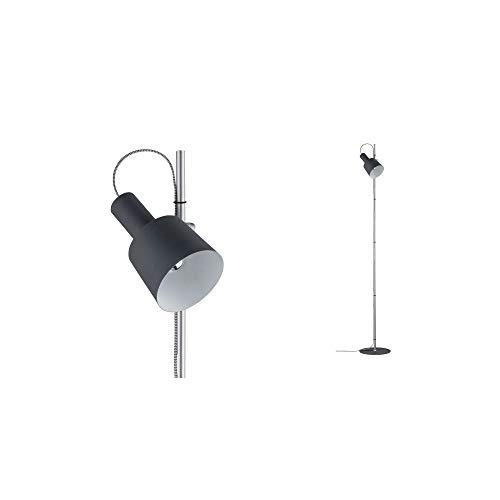 Preisvergleich Produktbild Paulmann 79692 Neordic Haldar Stehleuchte max. 1x20W Stehlampe für E14 Lampen Standleuchte Dunkelgrau / Chrom matt Fluter 230V Metall ohne Leuchtmittel