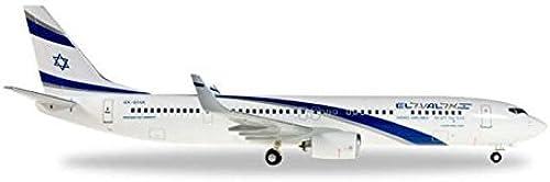 HE556996 Herpa Wings El Al 737-900ER 1 200 Model Airplane by Herpa 200 Scale Commercial-Private