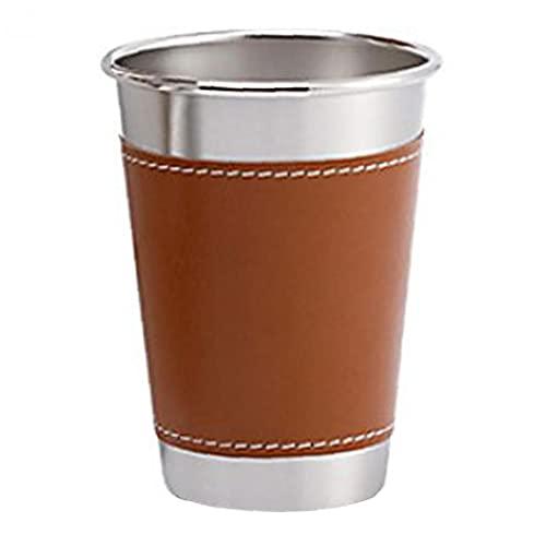 fedsjuihyg Taza de Cerveza del Acero Inoxidable de los vidrios de consumición con Las Tazas para Beber Funda de Pinta a Actividades Interior del Partido M