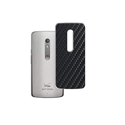 Vaxson 2 Stück Rückseite Schutzfolie, kompatibel mit Motorola Droid Turbo 2 Moto, Schwarz Backcover Skin Cover Haut [nicht Bildschirmschutzfolie Hülle Hülle ]